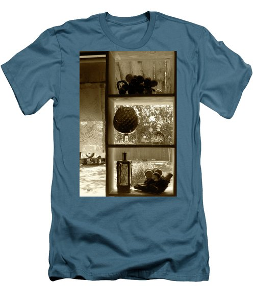 Men's T-Shirt (Slim Fit) featuring the photograph Sedona Series - Window Display by Ben and Raisa Gertsberg