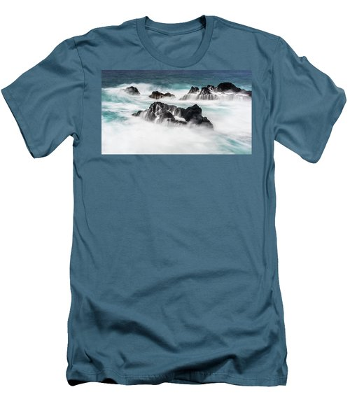Men's T-Shirt (Slim Fit) featuring the photograph Seduced By Waves by Jon Glaser