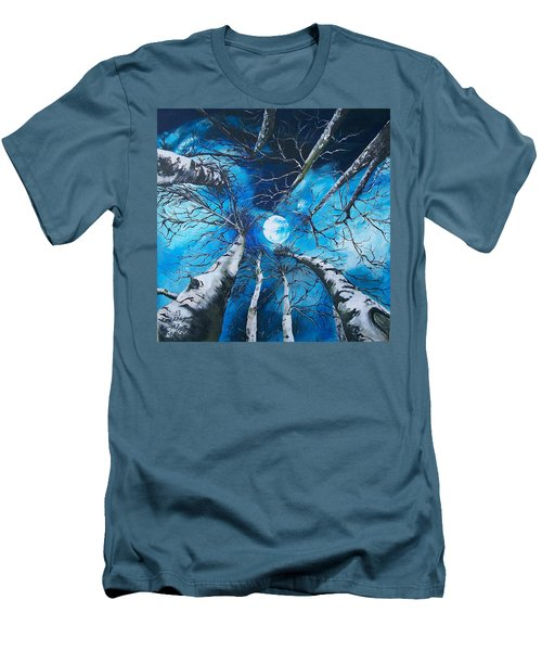Men's T-Shirt (Slim Fit) featuring the painting Selenophilia by Sharon Duguay