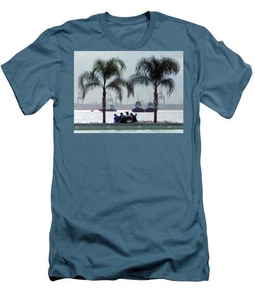 Selfie Us Men's T-Shirt (Slim Fit) by Beto Machado