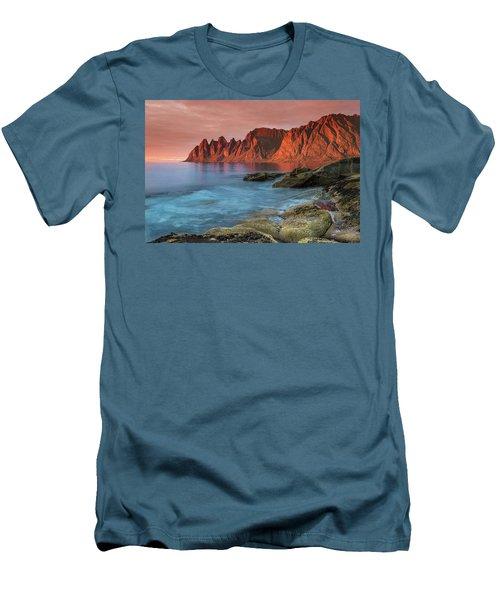Senja Red Men's T-Shirt (Slim Fit) by Alex Conu