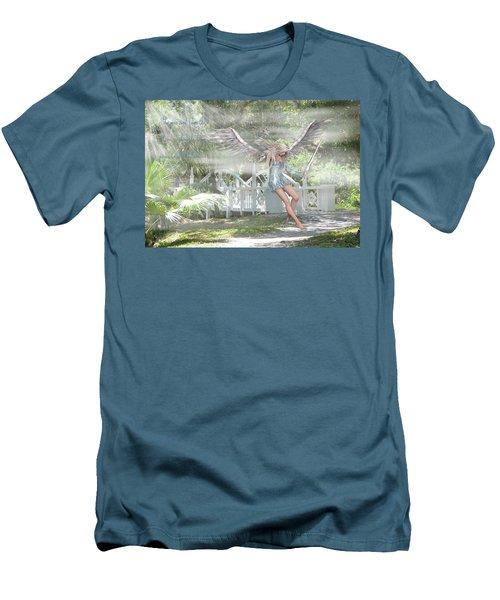 Sent From Heaven Men's T-Shirt (Slim Fit) by Rosalie Scanlon