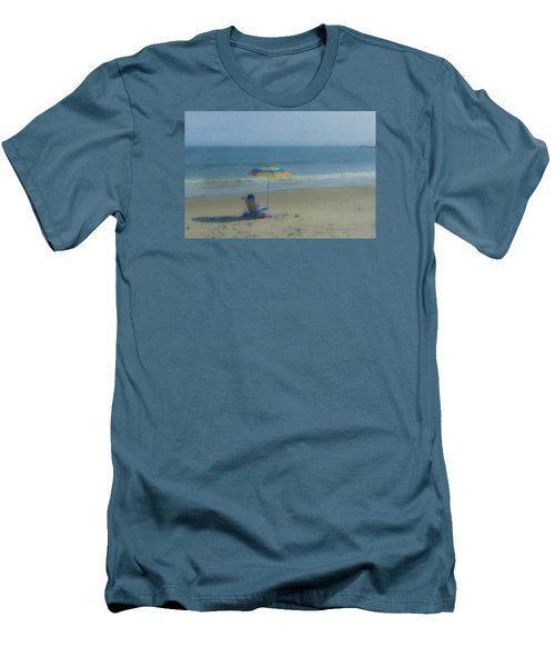 September Beach Reader Men's T-Shirt (Athletic Fit)