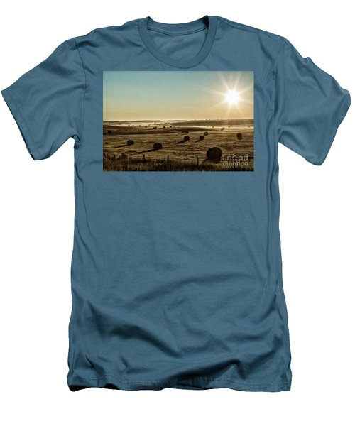 Men's T-Shirt (Slim Fit) featuring the photograph September Hay by Brad Allen Fine Art