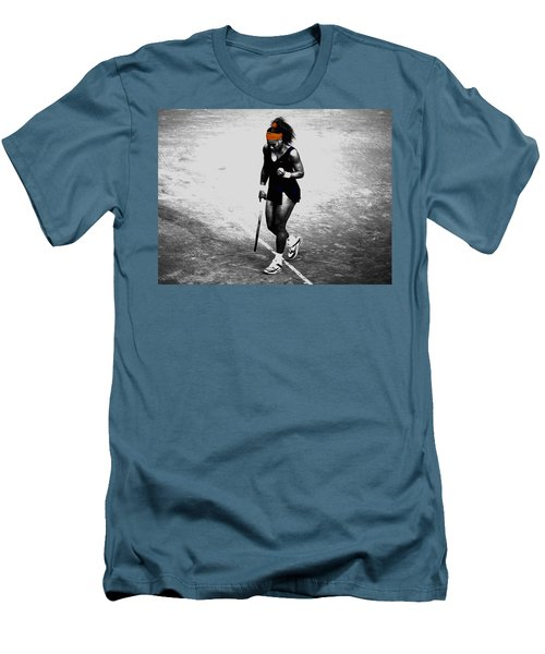 Serena Williams Match Point 3a Men's T-Shirt (Slim Fit) by Brian Reaves