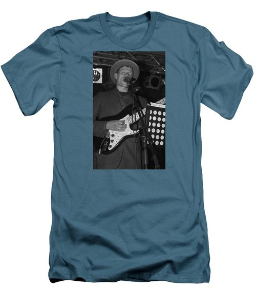 Serenading Guitar Man Men's T-Shirt (Athletic Fit)