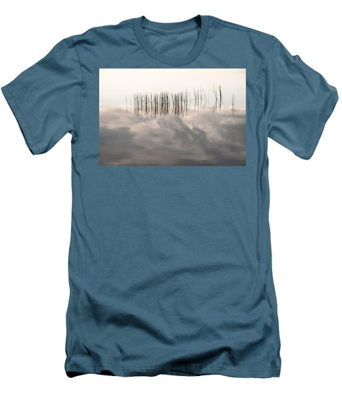 Serenity Dwells Here Where Tranquil Water Flow Cloaked  In Hues Of Love Men's T-Shirt (Slim Fit) by Jenny Rainbow