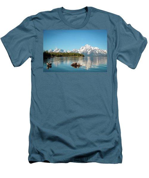 Serenity Men's T-Shirt (Slim Fit) by Jill Laudenslager