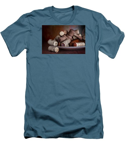 Served - Wine Taps And Corks Men's T-Shirt (Athletic Fit)