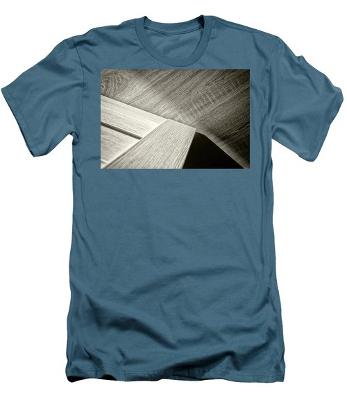 Men's T-Shirt (Athletic Fit) featuring the photograph Shadow Light Door Abstract Two by John Williams