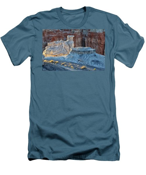 Shadows At Coal Mine Canyon Men's T-Shirt (Slim Fit) by Tom Kelly
