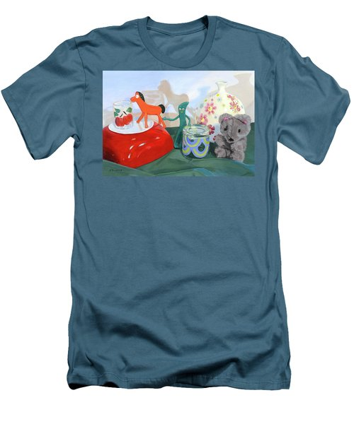 Men's T-Shirt (Athletic Fit) featuring the painting Shadows Of The Past by Lynne Reichhart