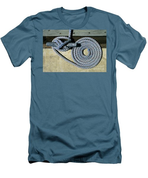 Sharon Hudson Marine Abstract - Coiled Ropes Men's T-Shirt (Athletic Fit)
