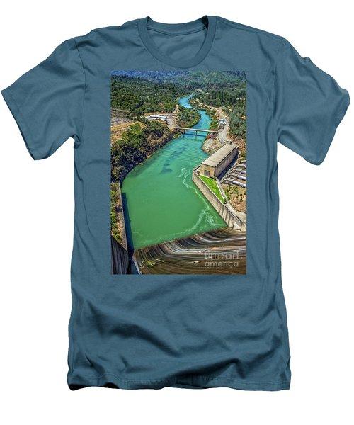 Shasta Lake Dam Men's T-Shirt (Slim Fit) by Billie-Jo Miller