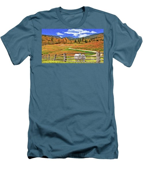 Sheep And Road Ver 1 Men's T-Shirt (Athletic Fit)