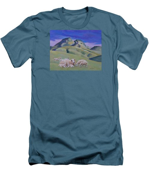 Sheep At Sutter Buttes Men's T-Shirt (Athletic Fit)