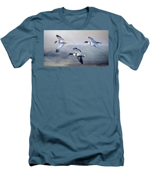 Shelduck Morning. Men's T-Shirt (Slim Fit) by Brian Tarr