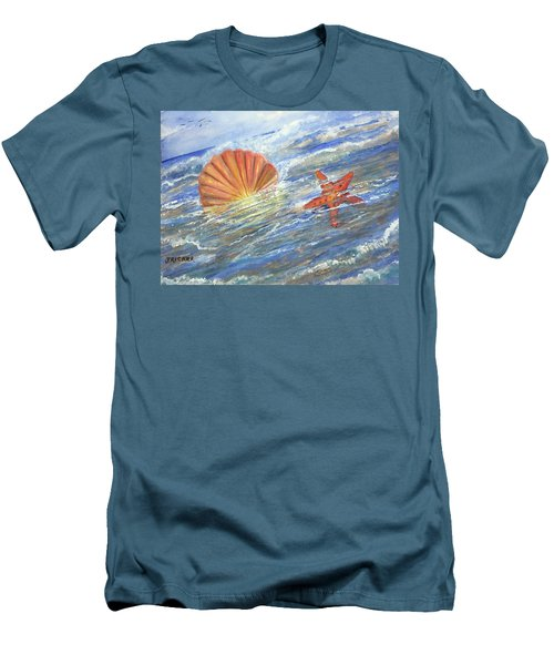 Shell Star  Men's T-Shirt (Athletic Fit)