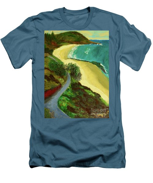 Men's T-Shirt (Slim Fit) featuring the painting Shelly Beach by Paul McKey