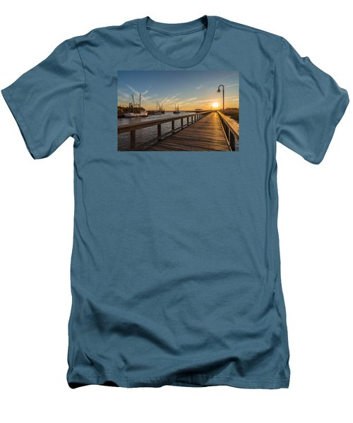 Shem Creek Pier Sunset - Mt. Pleasant Sc Men's T-Shirt (Athletic Fit)