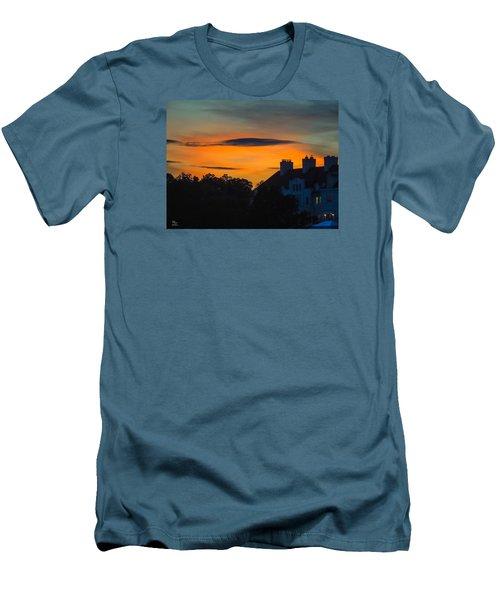Sherbet Sky Sunset Men's T-Shirt (Slim Fit) by Glenn Feron