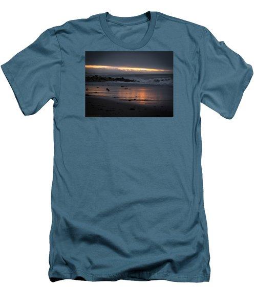 Men's T-Shirt (Slim Fit) featuring the photograph Shining Sand by Lora Lee Chapman