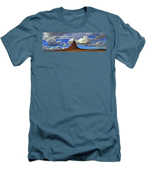 Men's T-Shirt (Slim Fit) featuring the photograph Shiprock Panorama by Scott Mahon