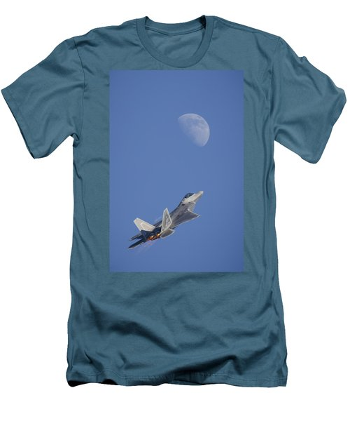 Men's T-Shirt (Athletic Fit) featuring the photograph Shoot The Moon by Adam Romanowicz
