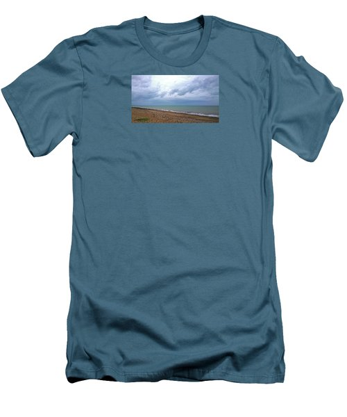 Men's T-Shirt (Slim Fit) featuring the photograph Shoreham Shoreline by Anne Kotan