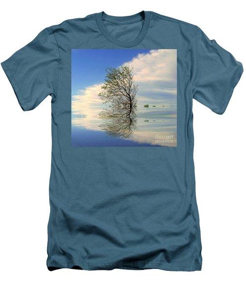 Silence Men's T-Shirt (Slim Fit) by Elfriede Fulda