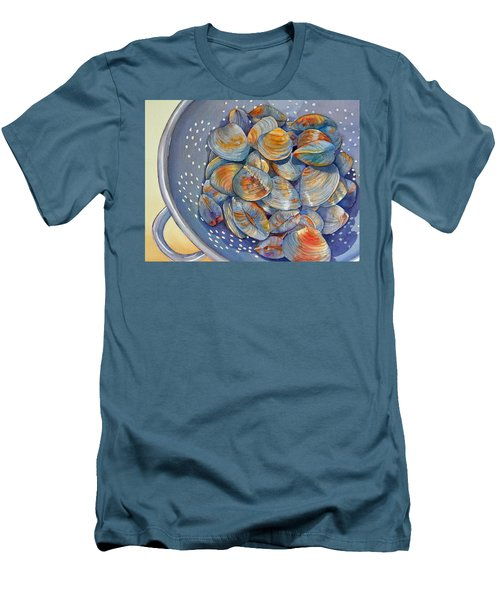 Silence Of The Clams Men's T-Shirt (Slim Fit) by Judy Mercer