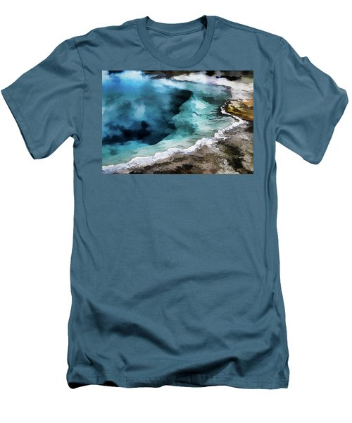 Silex Hot Springs   Impressionism Men's T-Shirt (Athletic Fit)