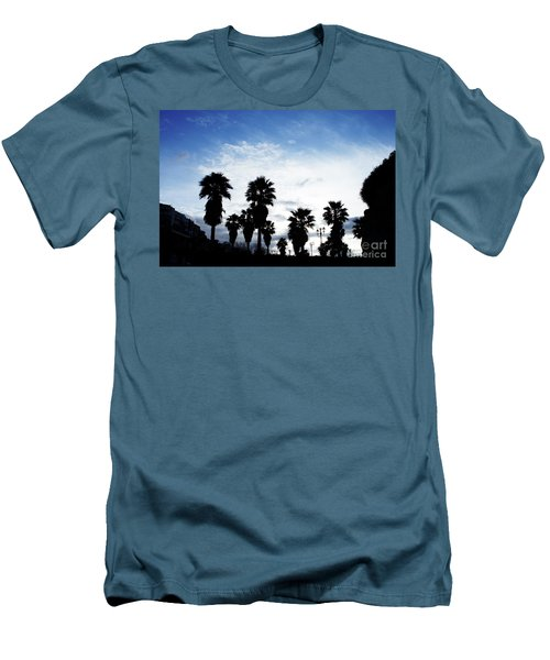 Silhouette In Tropea Men's T-Shirt (Slim Fit) by Ana Mireles