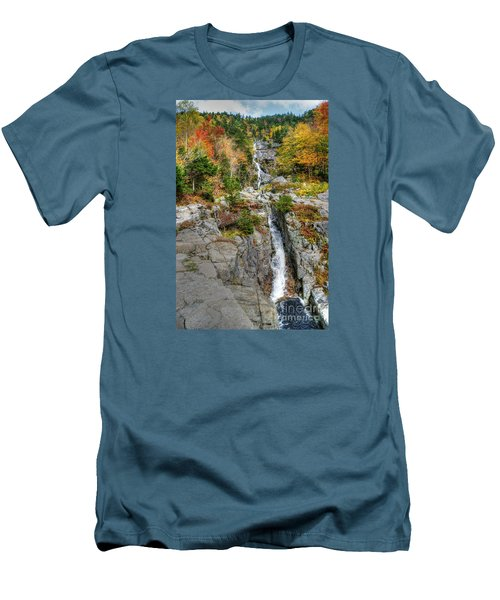 Silver Cascade Waterfall Men's T-Shirt (Athletic Fit)