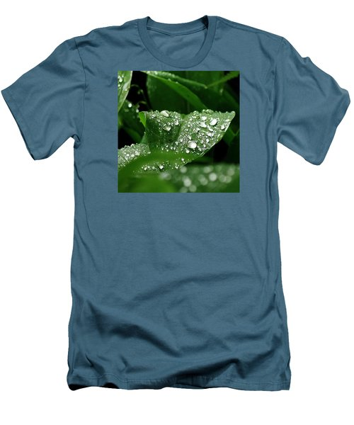 Men's T-Shirt (Slim Fit) featuring the photograph Silver Drops Of Spring by Al Fritz