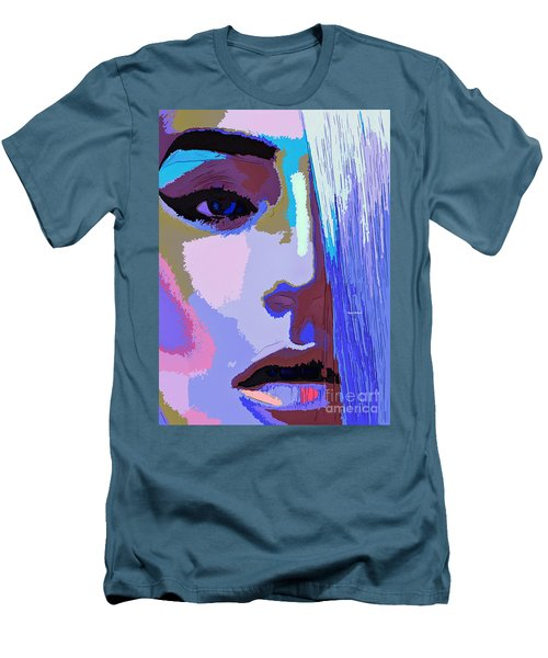 Men's T-Shirt (Athletic Fit) featuring the digital art Silver Queen by Rafael Salazar