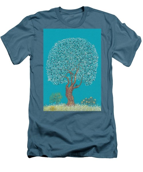 Silver Tree Men's T-Shirt (Slim Fit) by Charles Cater