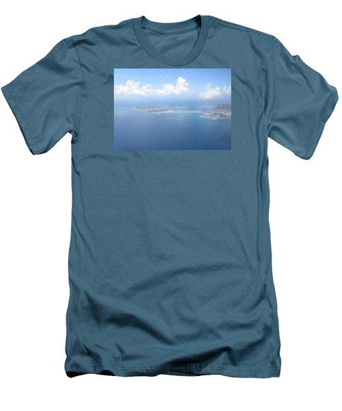 Simpson Bay St. Maarten Men's T-Shirt (Slim Fit) by Christopher Kirby