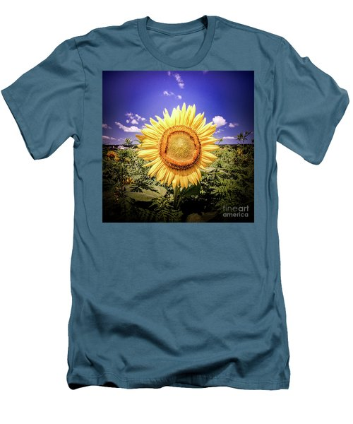 Single Sunflower Men's T-Shirt (Athletic Fit)