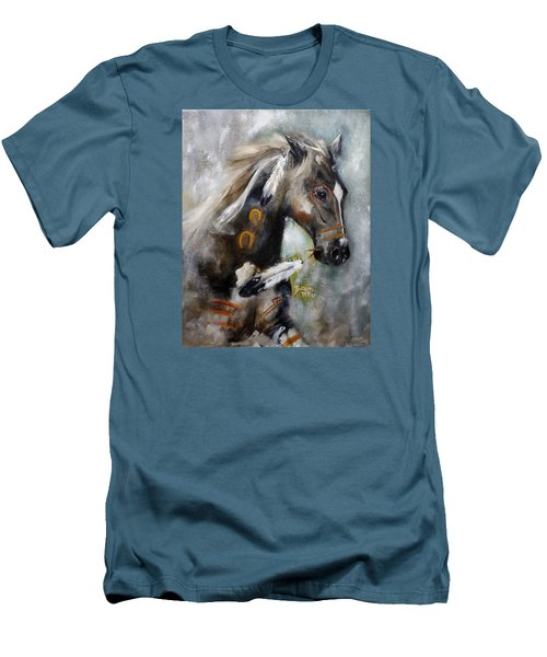 Sioux War Pony Men's T-Shirt (Slim Fit) by Barbie Batson