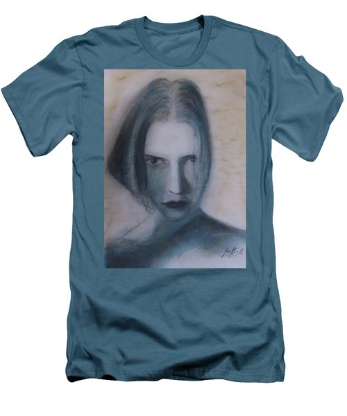 Men's T-Shirt (Athletic Fit) featuring the painting Siren From The Deep by Jarko Aka Lui Grande
