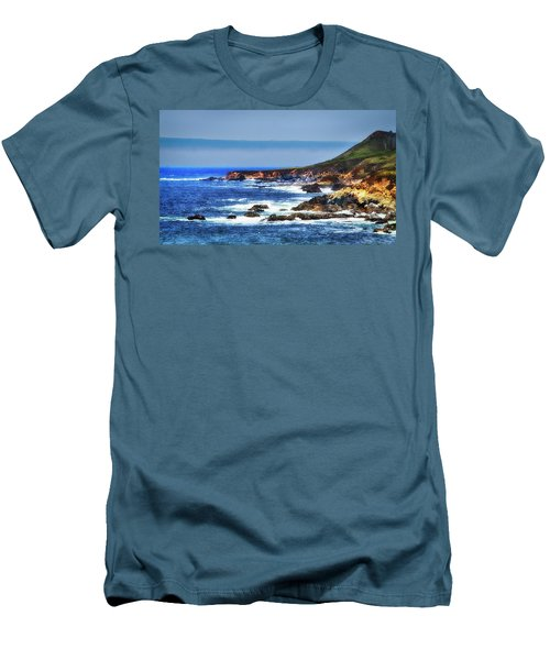 Men's T-Shirt (Slim Fit) featuring the photograph Sit And Stare Beach by Joseph Hollingsworth