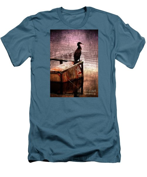 Sitting On The Dock Of The Bay Men's T-Shirt (Slim Fit) by Clare Bevan