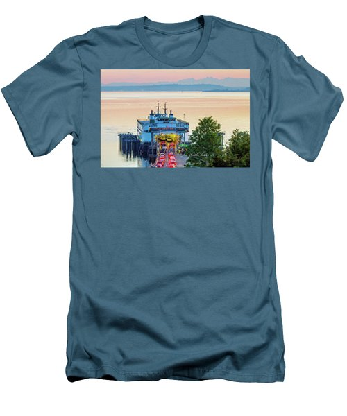 Six O'clock Ferry.2 Men's T-Shirt (Slim Fit) by E Faithe Lester