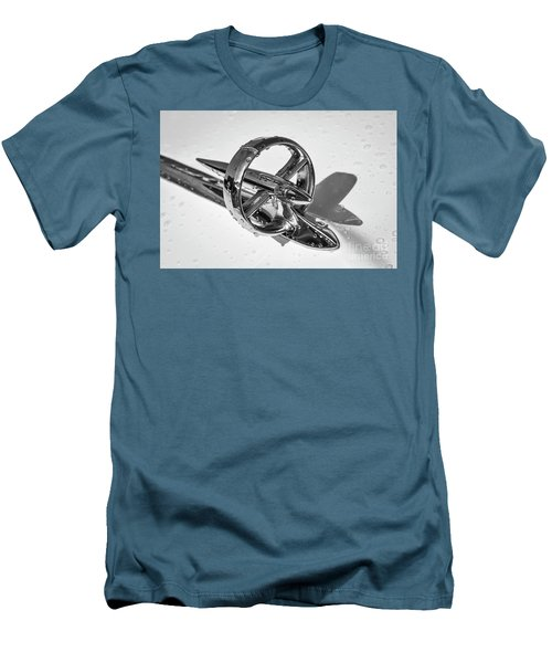 Men's T-Shirt (Slim Fit) featuring the photograph Special Hood Ornament Monotone by Dennis Hedberg