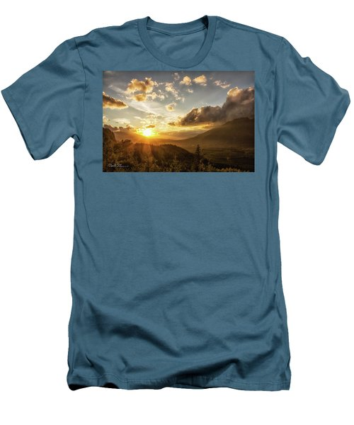 Skagit Valley Sunset Men's T-Shirt (Slim Fit) by Charlie Duncan