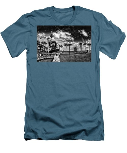 Skate Pushing The Boundries Men's T-Shirt (Slim Fit) by Kevin Cable