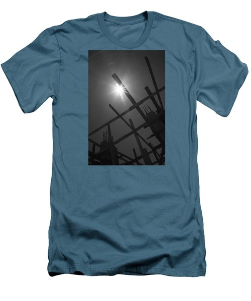 Men's T-Shirt (Slim Fit) featuring the photograph Skeleton  Time by Jez C Self