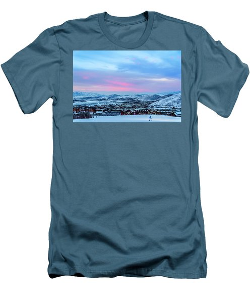 Ski Town Men's T-Shirt (Athletic Fit)