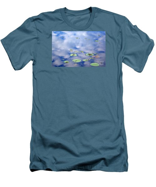 Sky And The Lily Pads Men's T-Shirt (Slim Fit) by Lila Fisher-Wenzel